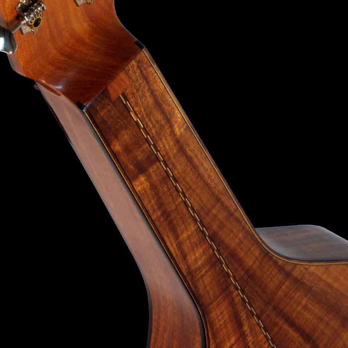 #16 weissenborn 7-string koa neck detail