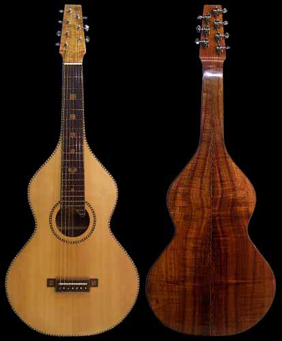 specifications of the #16 weissenborn 7-string koa