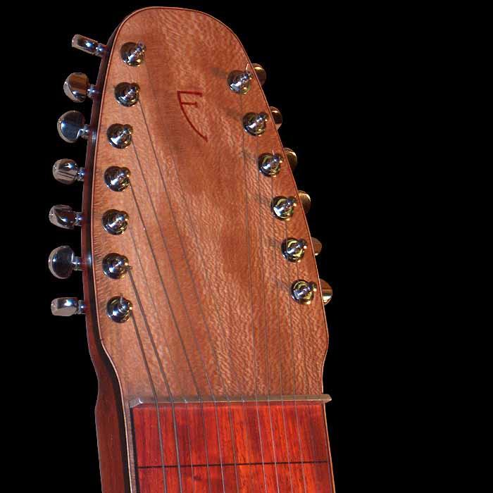 #20 lap steel 13-string head
