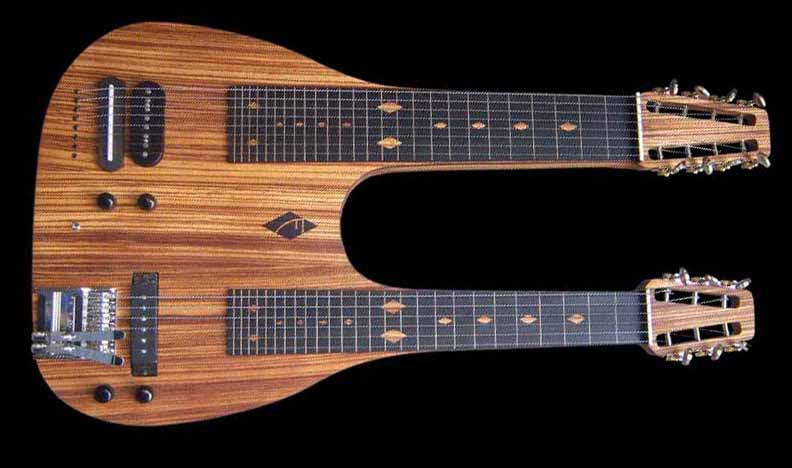 #50 double neck lap steel
