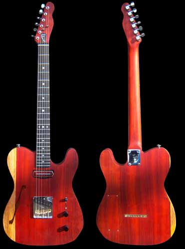 specifications of #52 telecaster thinline padouk