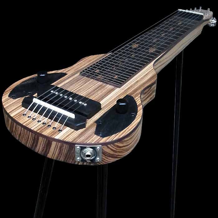 #53 slide king lap steel 8-string angled