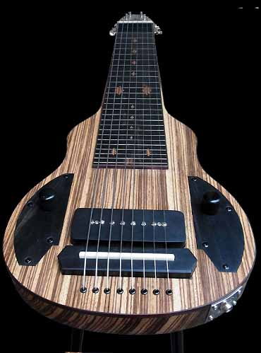 specifications of #53 slide king lap steel 8-string