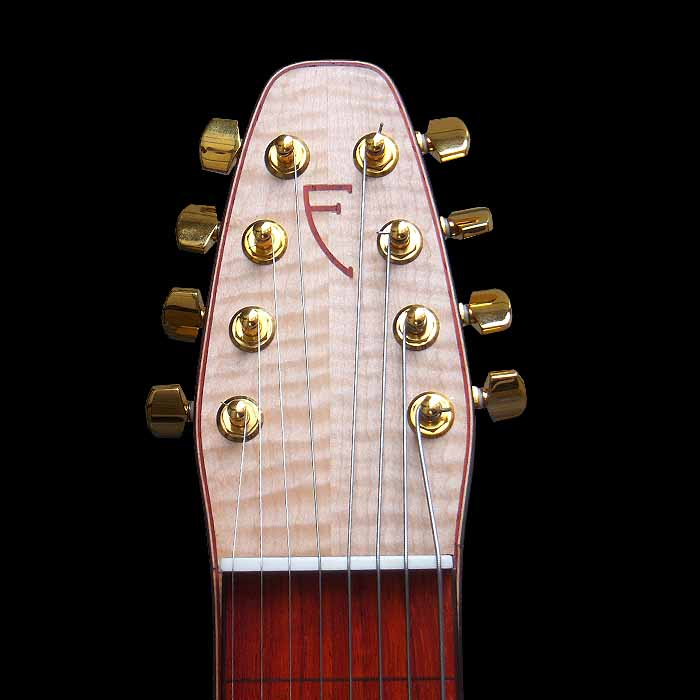#60 deco slide lap steel 8-string lefthanded head