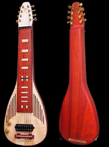 specifications of #60 deco slide lap steel 8-string lefthanded