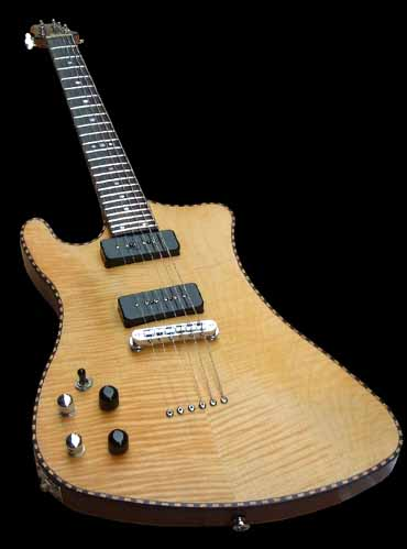 specifications of the #7 prototype electric guitar lefthanded
