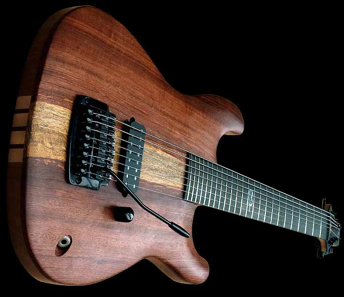 #74 baritone guitar 8-string body angled