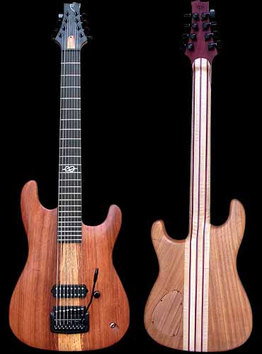 specifications of #74 baritone guitar 8-string