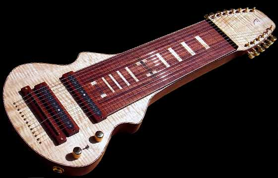 #79 lap steel 13-string angled