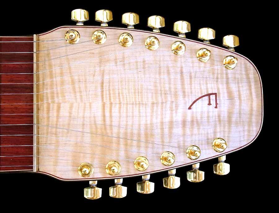 #79 lap steel 13-string head
