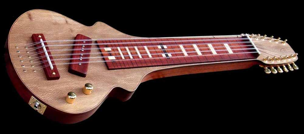 #86 lap steel 12-string angled