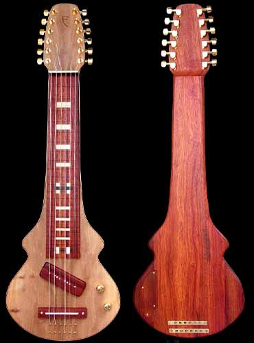 specifications of #86 lap steel 12-string