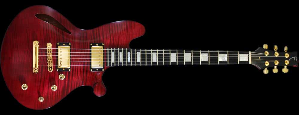 Orville Breeveld Custom signature electric guitar front