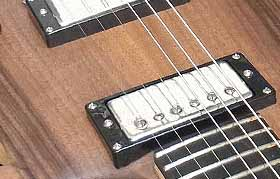 Lollar Imperial humbuckers mounted in the Custom-1 electric guitar