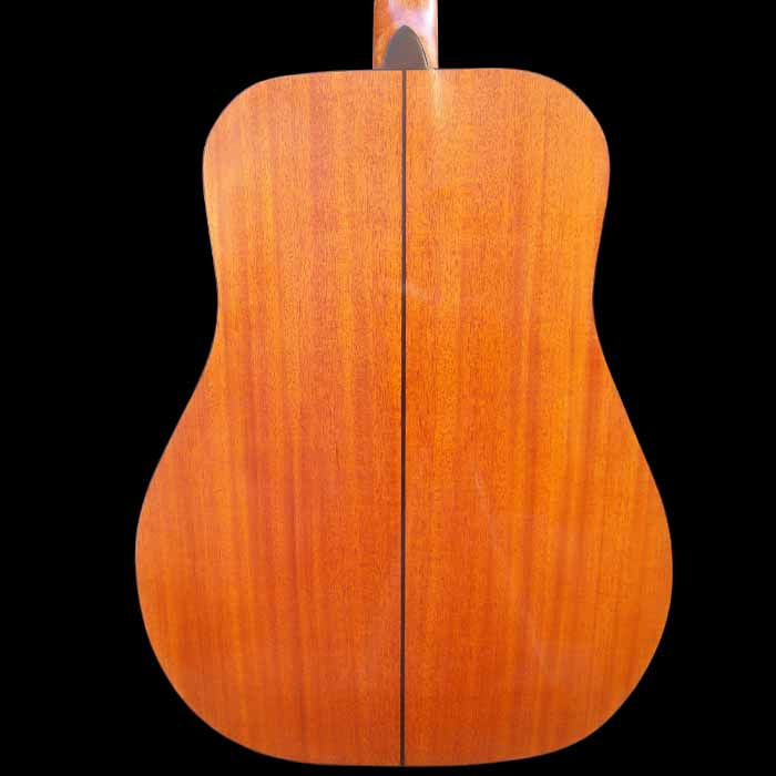 D-style acoustic guitar body back