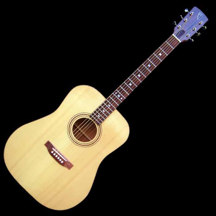 D-style acoustic guitar front