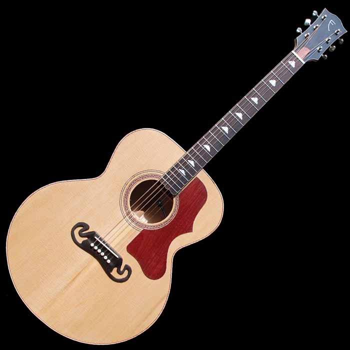 J-style acoustic guitar front