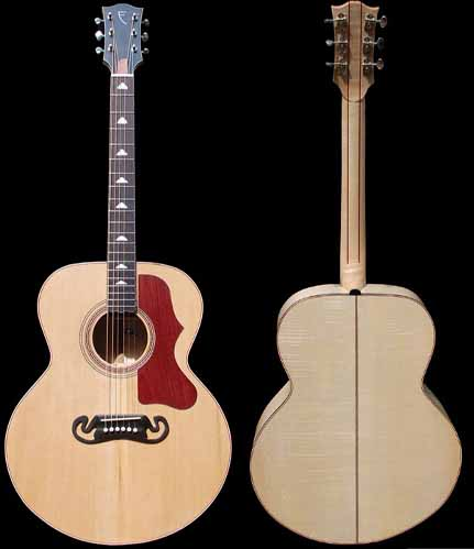 J-style acoustic guitar overview