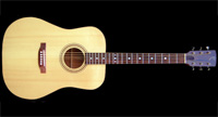 D-style steelstring acoustic guitar