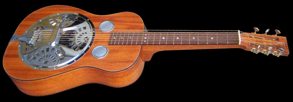 NVS Resonator guitar angled