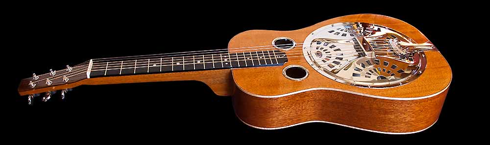 WRS Resonator guitar body angled