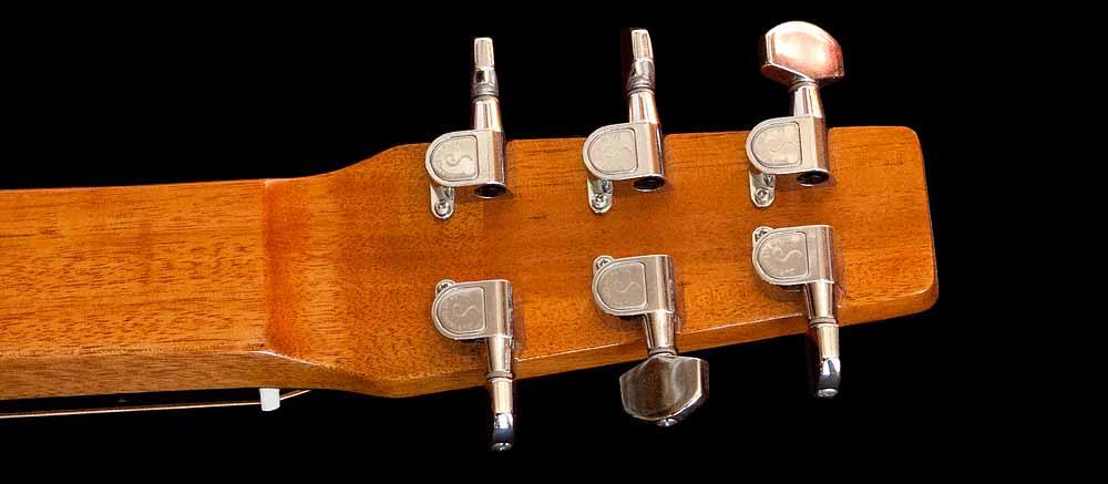 WRS Resonator guitar head-back