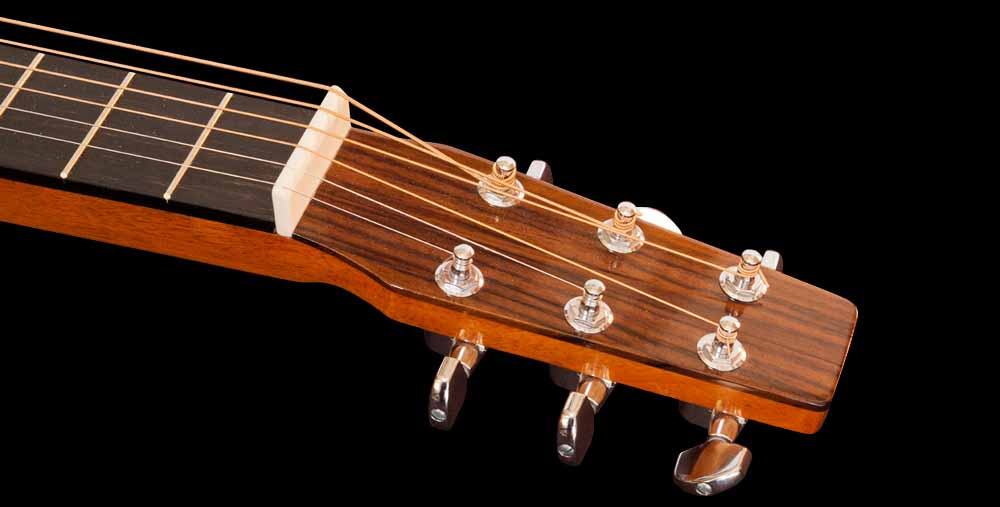 WRS Resonator guitar head front