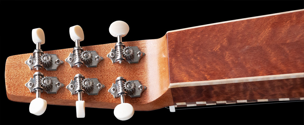 Weissenborn Style 3, backside of the head with open Gotoh tuners