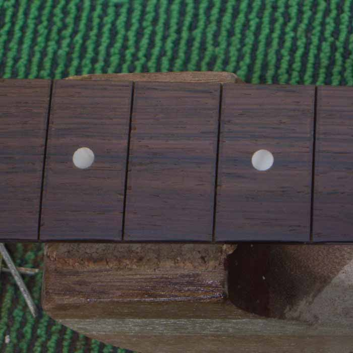 the fretboard is clean and ready to be fretted