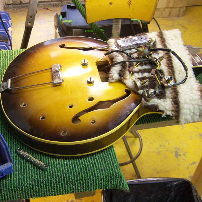 epiphone electronics are removed from the body