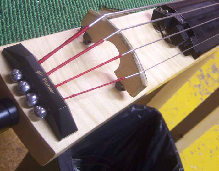 Fichter bass with the old loose pickup