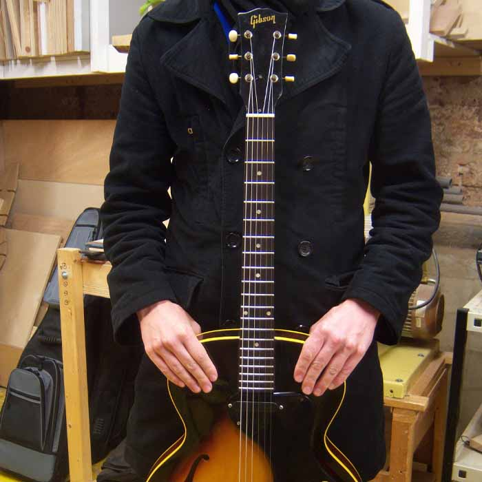 1965 Gibson ES130 with new frets installed