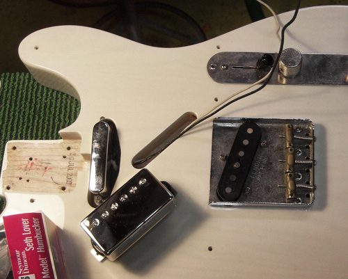 hardware is removed from the telecaster body