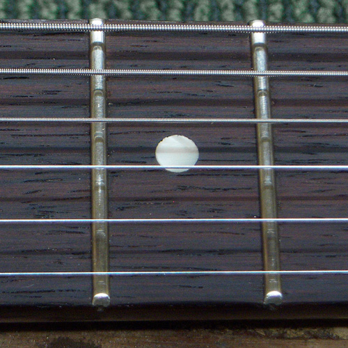 close up detail of the new installed frets