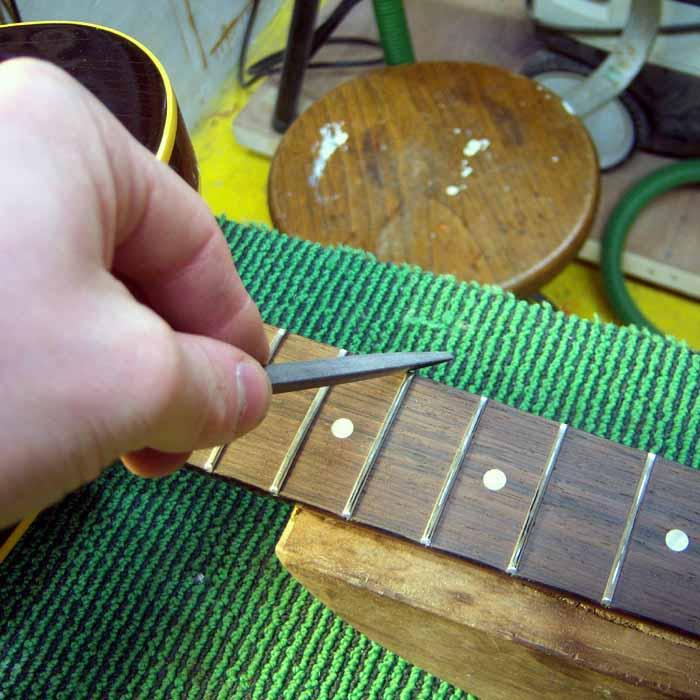 sharp fret edges are removed