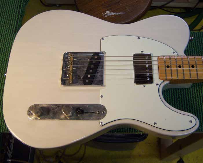 the telecaster after the modification is done