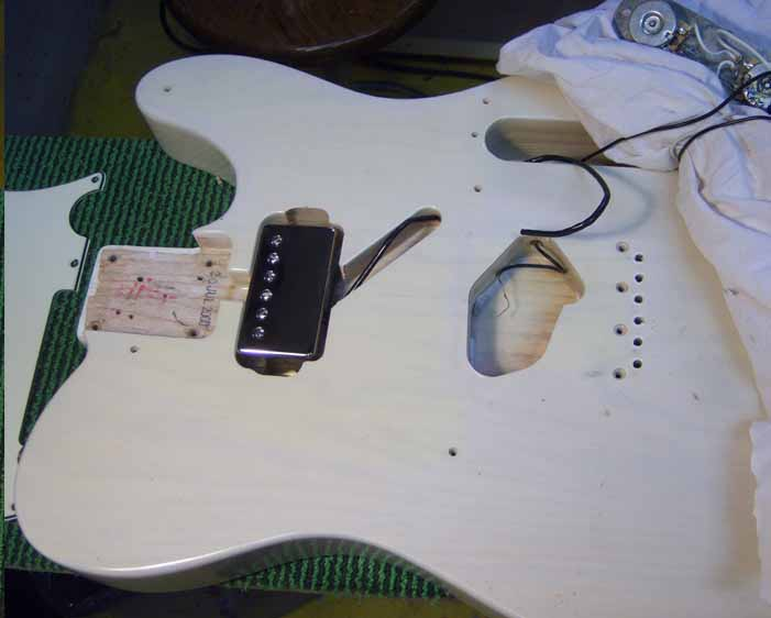 the new humbucker is fit in the guitar body