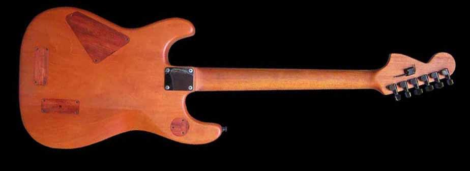 #36 stratocaster met emg en led achterkant