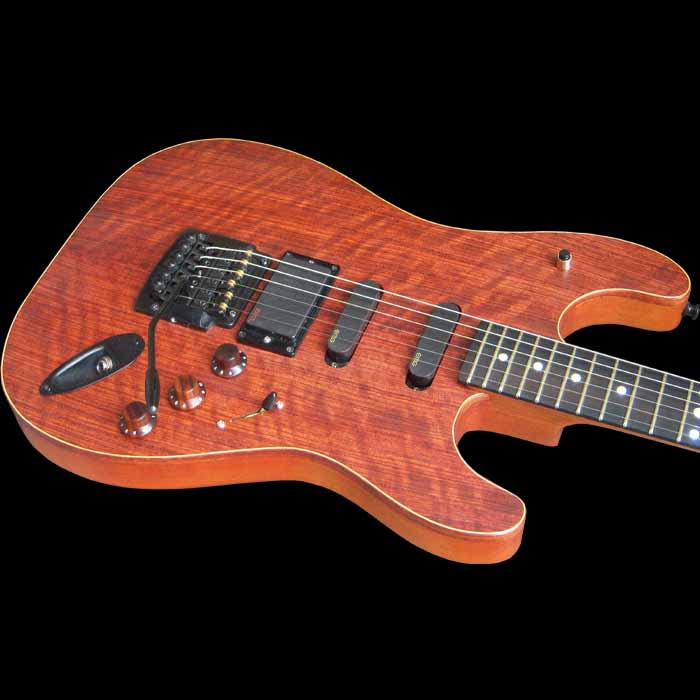 #36 stratocaster met emg en led body schuin
