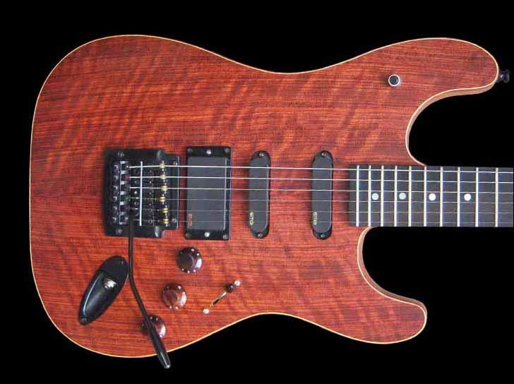 #36 stratocaster met emg en led body