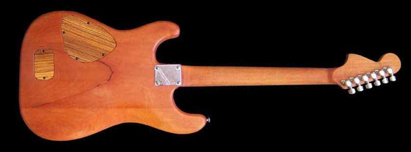 #41 stratocaster met emg en kahler achterkant