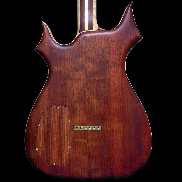 #64 psiliste elektrische gitaar body achterkant