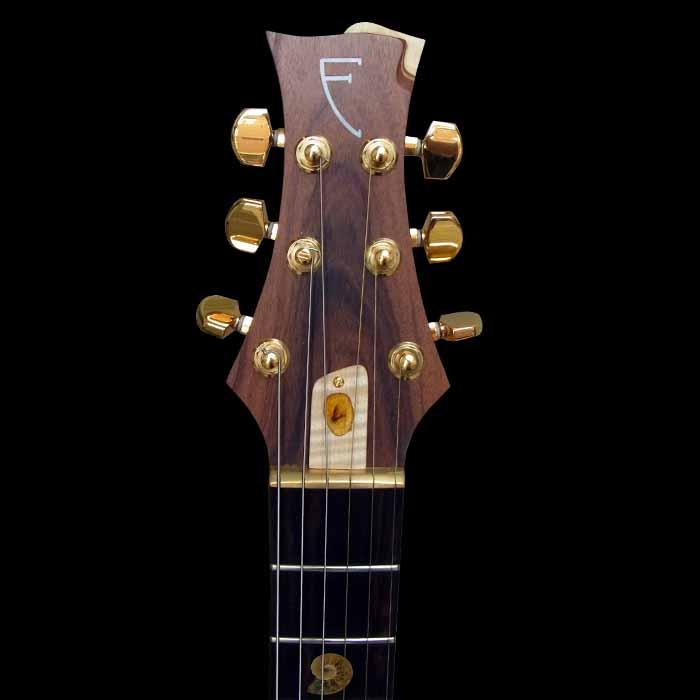 #64 psiliste elektrische gitaar kop voorkant