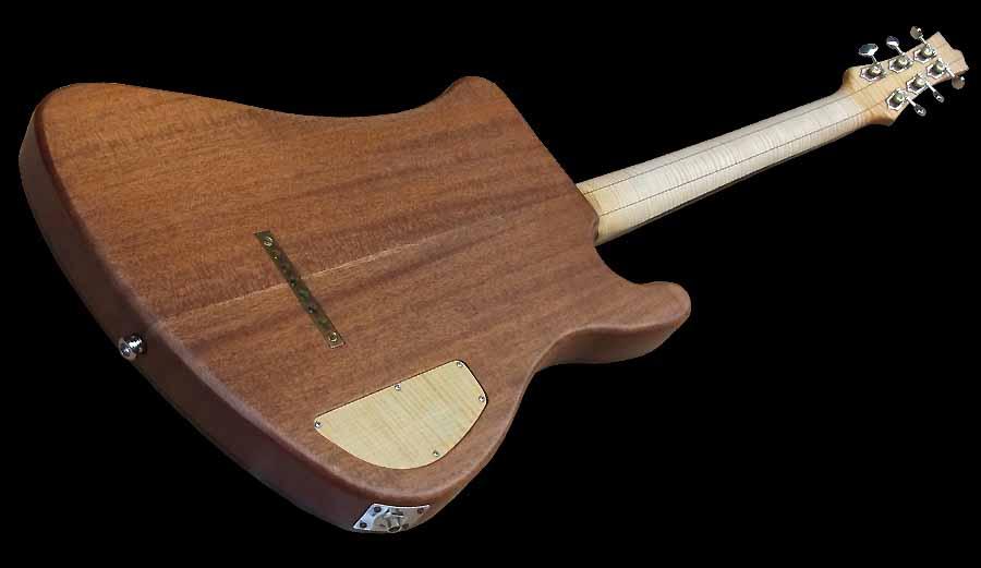 # 7 prototype elektrische gitaar linkshandig achterkant