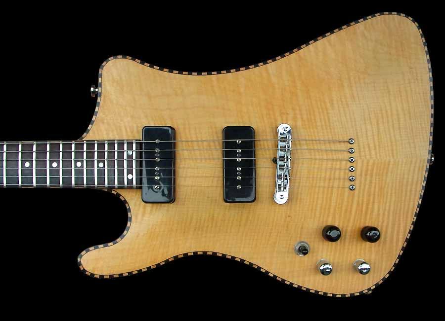 # 7 prototype elektrische gitaar linkshandig body