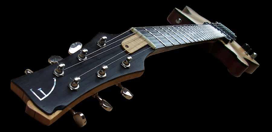 # 7 prototype elektrische gitaar linkshandig kop