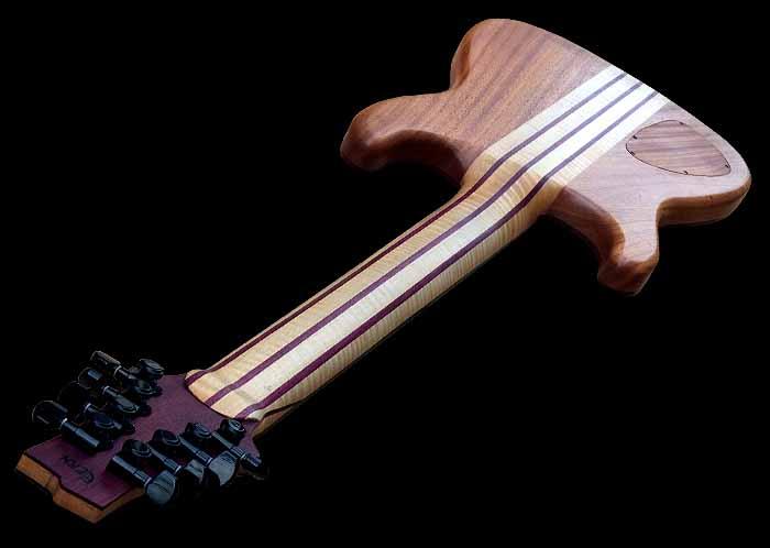 #74 baritone gitaar 8-snarig hals