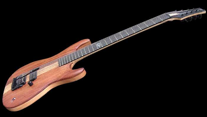 #74 baritone gitaar 8-snarig schuin