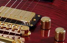 gouden Lollar humbucker in de brug positie