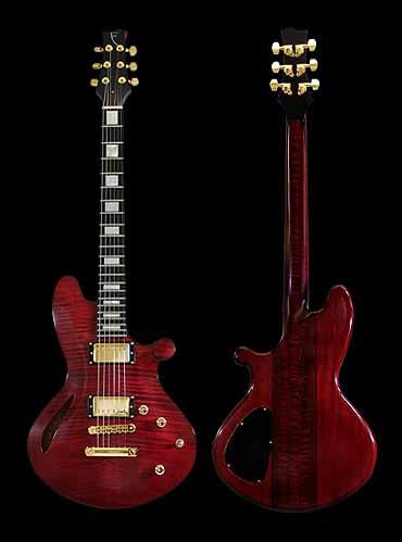 overzicht van de specificaties van de Orville Breeveld Custom signature elektrische gitaar